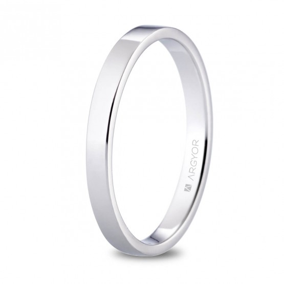 Alianza de platino plana y brillo 2.5mm (05930125)