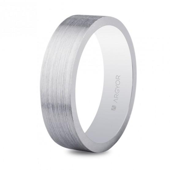Alianza de boda plana en plata 5.50 mm (5755056N)
