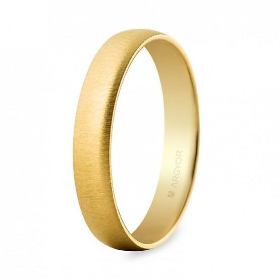 Alianza boda oro amarillo confort texturizada 4mm (5640001T)