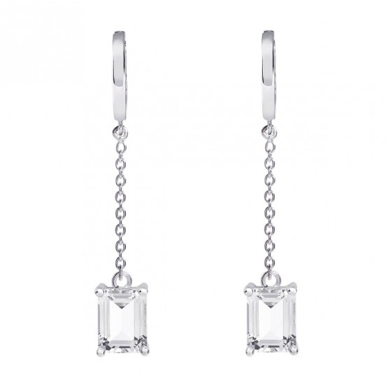 Pendientes de novia en plata y topacios cadena (79B0307NB1) 1