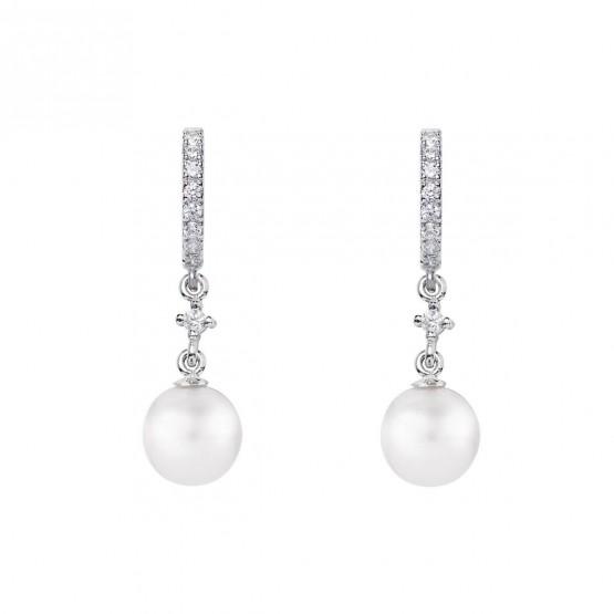 Pendientes para novia en plata y perlas (79B0401TD1) 1
