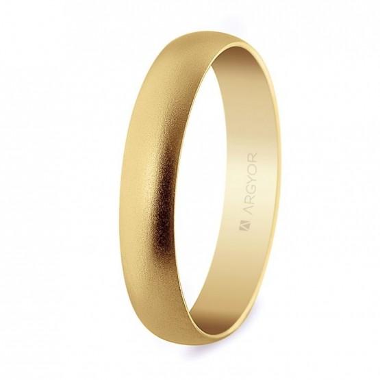 Alianza de boda oro acabado arena 4mm (50405M)