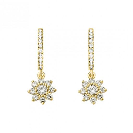 Pendientes oro amarillo 18k con diamantes (75A0213)