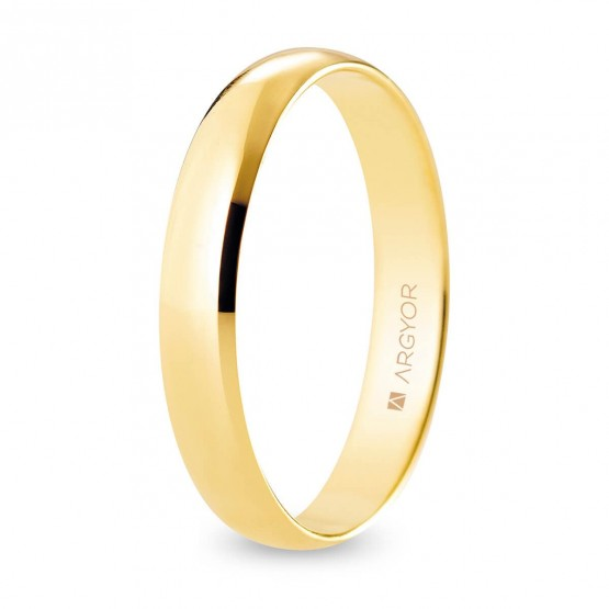 Alianza de boda oro media caña 3,5 mm confort (A35CP00)