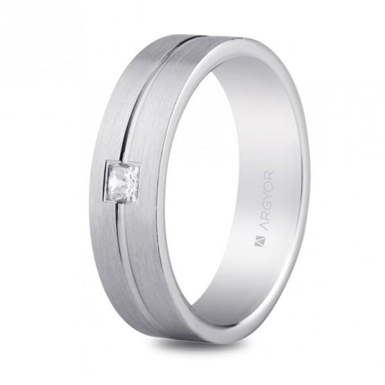 Alianza plata 5,5mm circonita confort (5755153N)