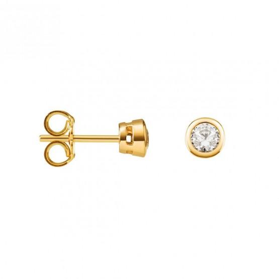 Pendientes con diamantes en chatón (75A0100)