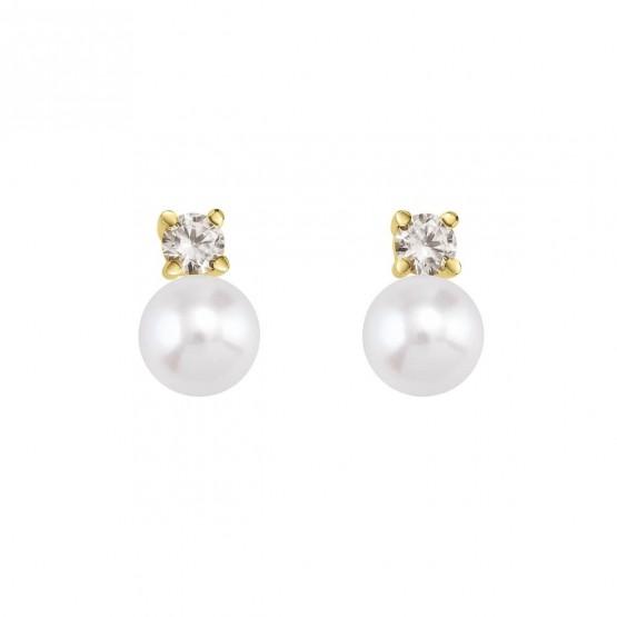 Pendientes de Novia con diamantes y perlas (75A0101P)