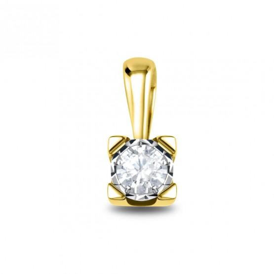 Colgante oro amarillo 18k con 1 diamante (75A0502)