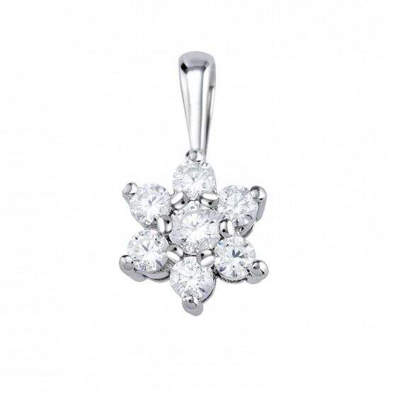 Colgante oro blanco con 7 diamantes (75B0014)
