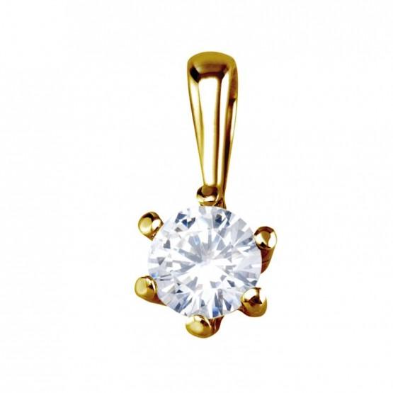 Colgante de oro con 1 diamante 0.25ct (75A0006)