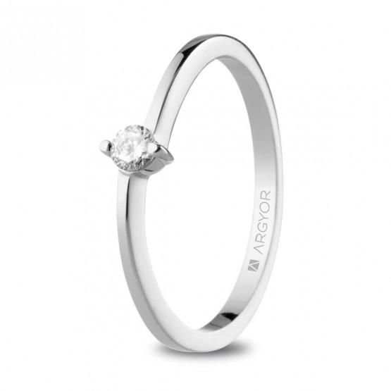 Anillo de Compromiso blanco con diamante 0.10ct  (74B0154-74B0159)