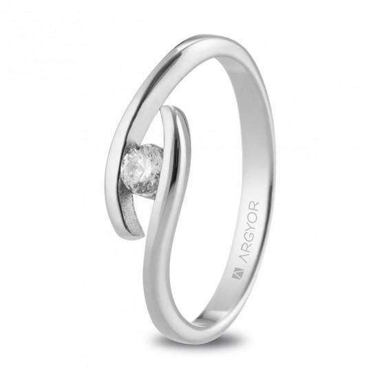 Anillo de Compromiso de platino 0.10ct (74B0142)