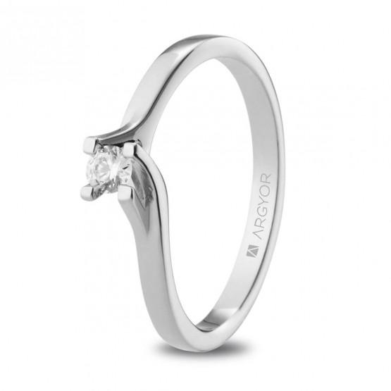 Anillo de Compromiso blanco con diamante 0.10ct (74B0148-74B0153)