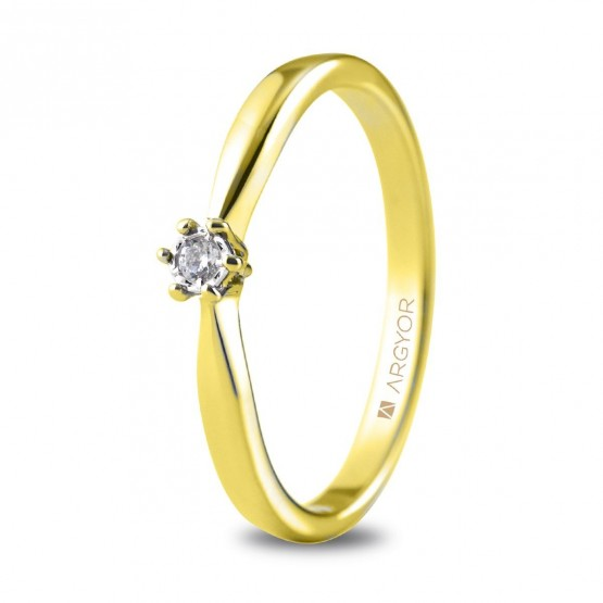 Anillo de compromiso oro amarillo con 1 diamante 0.03ct (74A0511)