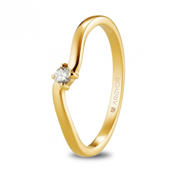 Anillo de oro con diamante 0.06ct (74A0076)