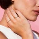 Anillo de diamantes de oro rosa 0.10ct (74R0084)