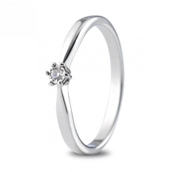Anillo de compromiso oro blanco con 1 diamante 0.03ct (74B0511)