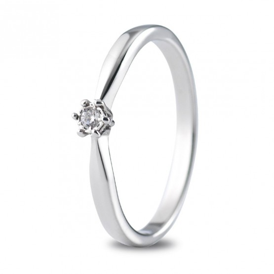 fe51deb6b088 Anillo de compromiso oro blanco con 1 diamante 0.03ct (74B0511)