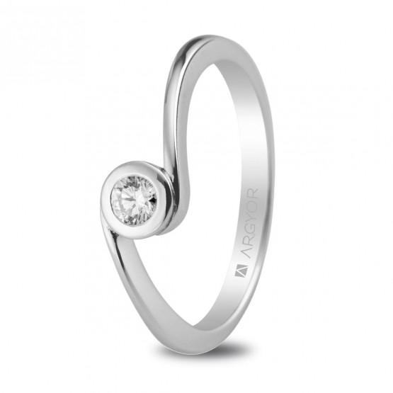 Anillo de compromiso 1 diamante 0.10ct (74B0007)