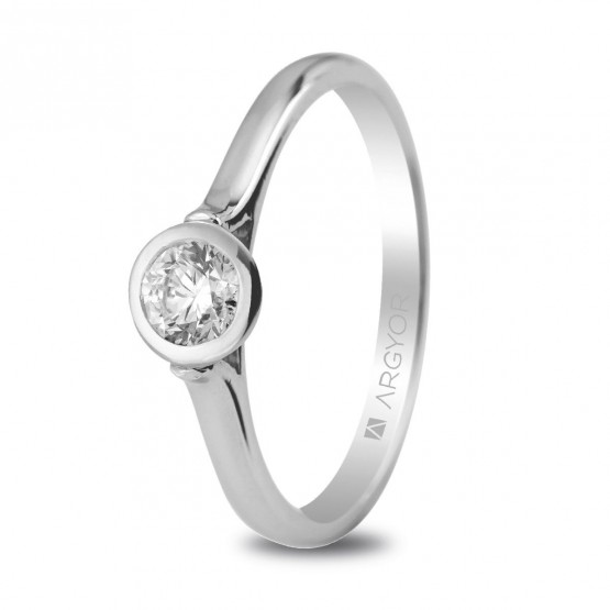 Solitario con diamante de 0.30ct (74B0022)