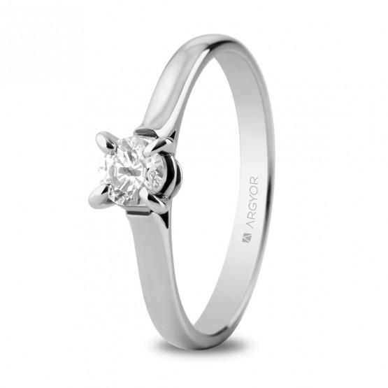 Anillo de compromiso oro blanco con 1 diamante 0.34ct (74B0044)