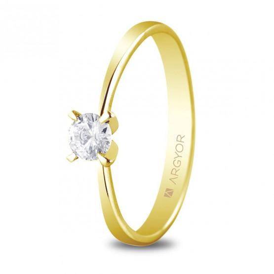 Anillo de compromiso 1 diamante talla brillante 0.25ct (74A0030)