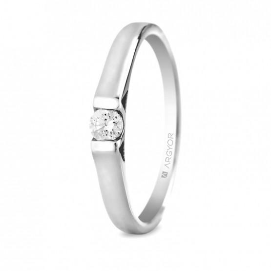 Anillo de compromiso con 1 diamante 0.10ct (74B0032)