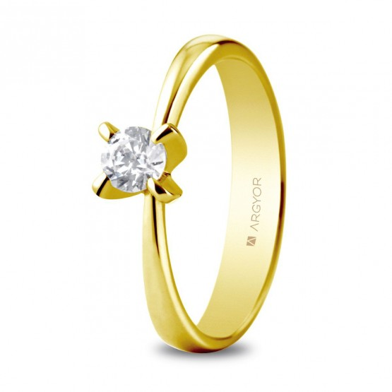Anillo de compromiso 1 diamante talla brillante 0,34ct (74A0039)