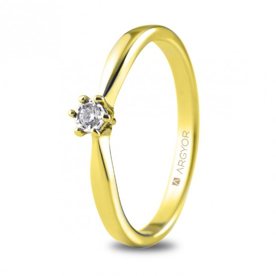 Anillo de compromiso 1 diamante talla brillante 0,05ct (74A0512)