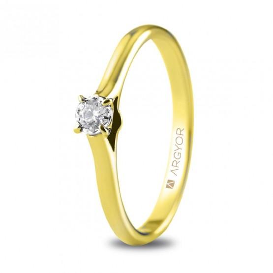 Anillo de compromiso 1 diamante talla brillante 0,08ct (74A0503)