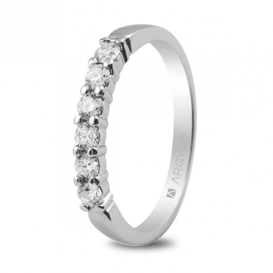 Anillo de compromiso de platino y diamantes 0.39ct (74B0015)