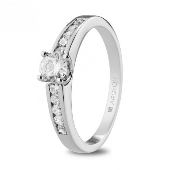 Anillo de Pedida blanco con diamantes 0.54ct (74B0103)