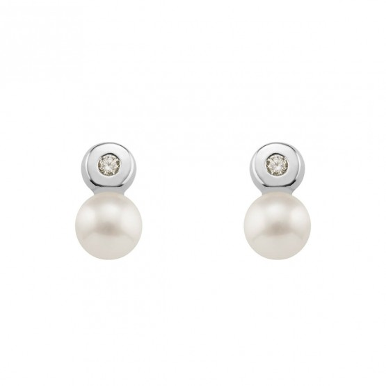 Pendientes de Bebé con Diamantes y Perlas (0316439B)