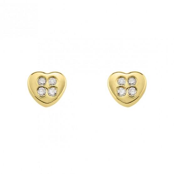 Pendientes de bebé Corazón con diamantes (0316301)