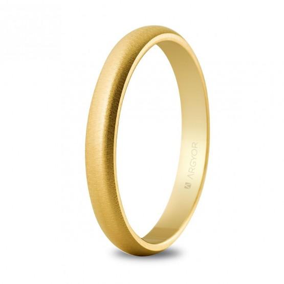 Alianza boda oro amarillo 3mm texturizada (50306T)