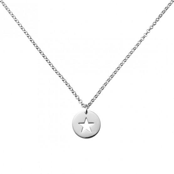 Collar de plata de ley 925 Estrella calada (3B8307309)