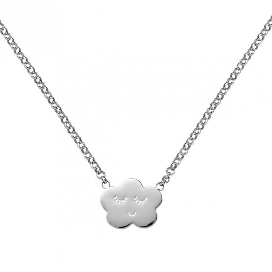 Collar de plata ley 925 Nube sonriente (3B8307316)