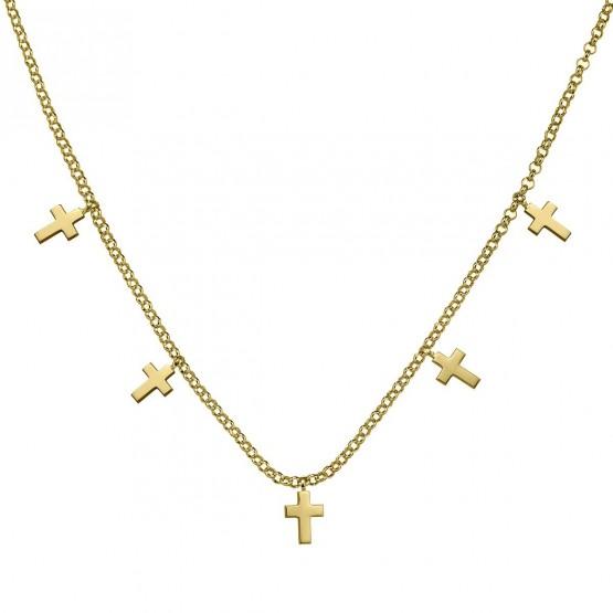 Gargantilla de oro 18k amarillo Cruces (3A8307304)