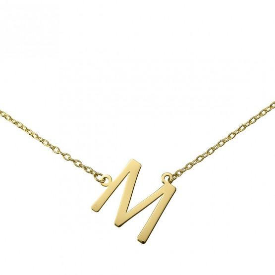 86757e7f5a50 Gargantilla de oro amarillo 18k con Letra abecedario 38400246 ...