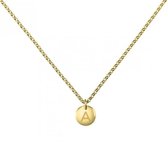 5154c99217d1 Collar de plata dorada ley 925 Letra (3A8307311)