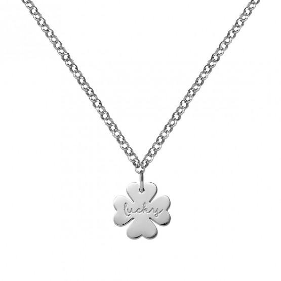 Collar de plata de ley 925 Trébol de la Suerte (3B8307318)
