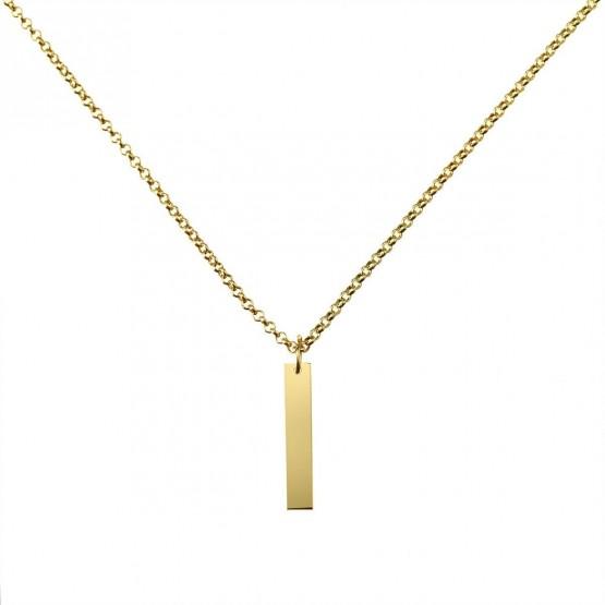 Gargantilla de plata dorada con placa lisa (3A8307306A)