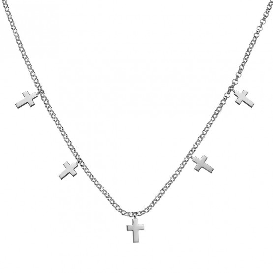 Gargantilla de oro blanco con Cruces (3B8307304)