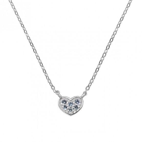 Colgante corazón oro blanco con 6 zafiros azules (76BGA007ZA)