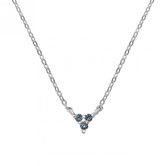 Colgante triangulo oro con 3 zafiros azules (76BGA002ZA)