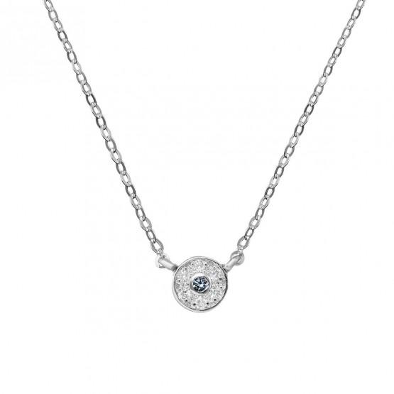 Colgante diamante y zafiro azul roseta (76BGA003ZA)