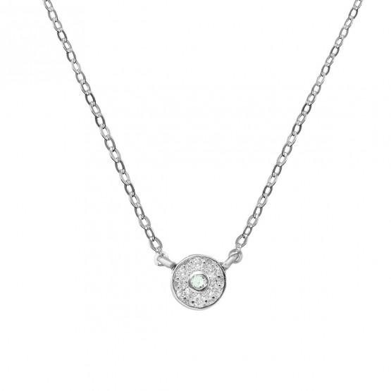 Colgante diamante y zafiro verde roseta (76BGA003ZV)