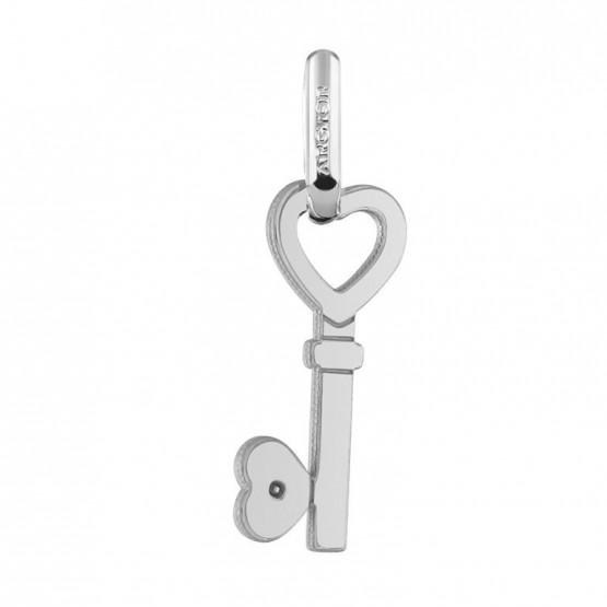 Colgante oro blanco diseño llave de corazón (24B8400419)
