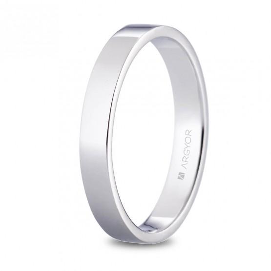 Alianza de platino plana brillo 3.5mm (05930135)