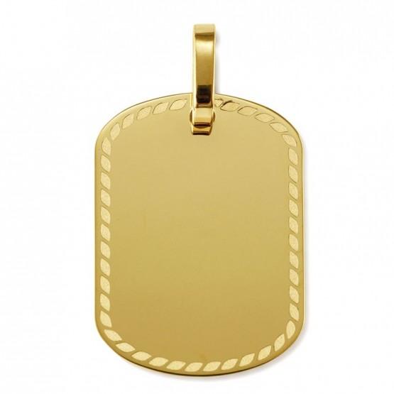 Placa oro con dibujo láser (21310L01)